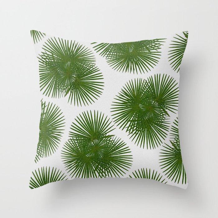 Fan Palm, Tropical Decor Throw Pillow