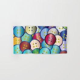 Multi Color Button Background Hand & Bath Towel