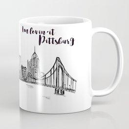 Ink Sketch Pittsburgh Skyline Coffee Mug