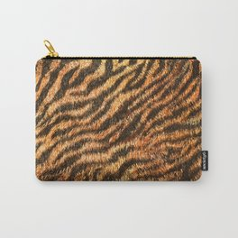 Bengal Tiger Fur Wildlife Print Pattern Carry-All Pouch