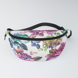 Fluorescent Roses Fanny Pack