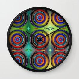 Multicolored Pattern Circles 1 Wall Clock