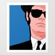 Pop icons - Tribute Elwood Art Print