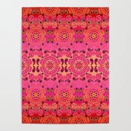 Pink Haze Bandana Ombre' Stripe Poster