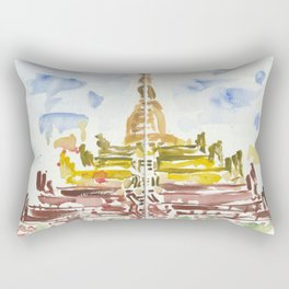 Shwesandaw Pagoda Rectangular Pillow
