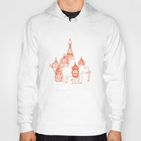 moscow Hoodies featuring Moscow by OneOneTwo