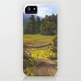 Lazy Winding Roads iPhone Case