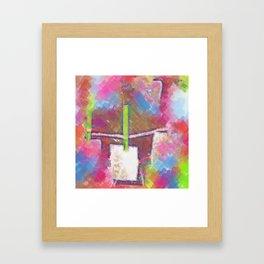 Title Shop Art Pop Art Framed Art Print