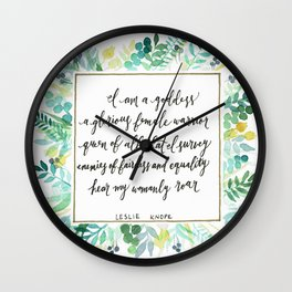 I Am A Goddess Wall Clock