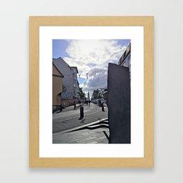 Art Walk in Downtown Reykjavík Framed Art Print