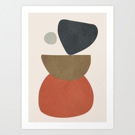 Abstract Balancing Stones Art Print