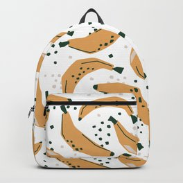 Mid Century Modern Abstract Bananas Jungle Pattern Backpack