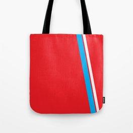 Red Slant Tote Bag