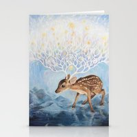 antlers Stationery Cards featuring Antlers by Lucy Yu { Artwork }