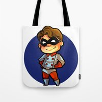 bucky Tote Bags featuring BUCKY! by zombietonbo