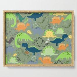 Dinosaurs jungle pattern Serving Tray