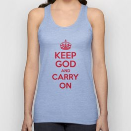 keep God and Carry On - White Book Unisex Tank Top