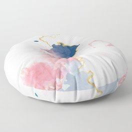Kintsugi Pastel Marble #kintsugi #gold #japan #marble #pink #blue #home #decor #kirovair Floor Pillow