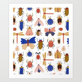 Funny insects Art Print