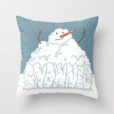 SNOWNED Throw Pillow