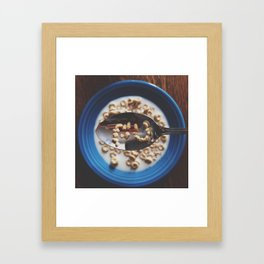 Who pissed in your Cheerios?  Framed Art Print