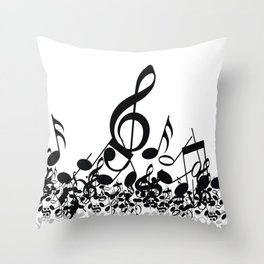 Music Note's BW 2 Throw Pillow