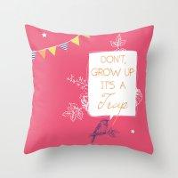 neverland Throw Pillows featuring Neverland by Little Joy Designs