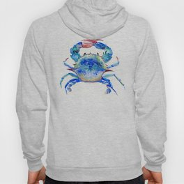 Blue Crab, crab restaurant seafood design art Hoody
