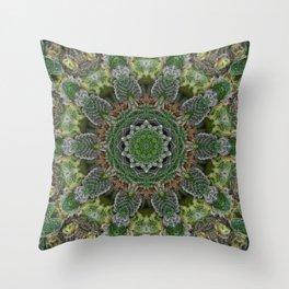 Green Queen Throw Pillow