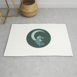 Lady on the Moon  Rug