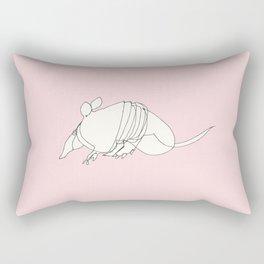 Pink Armadillo Rectangular Pillow