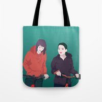 bike Tote Bags featuring BIKE by ketizoloto