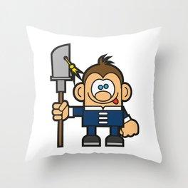 Kung Fu Cartoon Character Throw Pillow