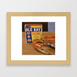 Meg's Old Bay Framed Art Print