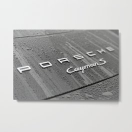 Porsche CaymanS and Rain Metal Print