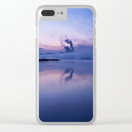 Tranquil blue nature Clear iPhone Case