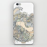 pony iPhone & iPod Skins featuring trick pony by Cassidy Rae Marietta