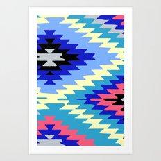 Kilim Rug Bright Art Print