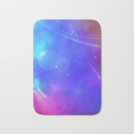 Abstract Pink and Purple Cosmic Space Design Bath Mat