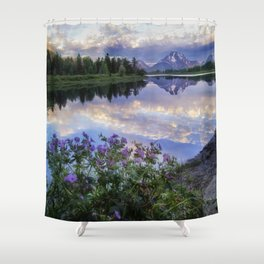 Wildflowers Along the Snake River Shower Curtain