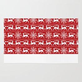 Christmas Deer Rug
