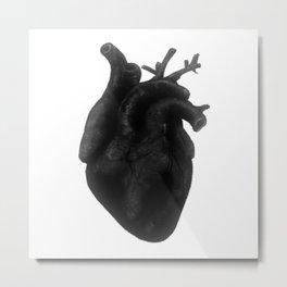 Black Heart Metal Print