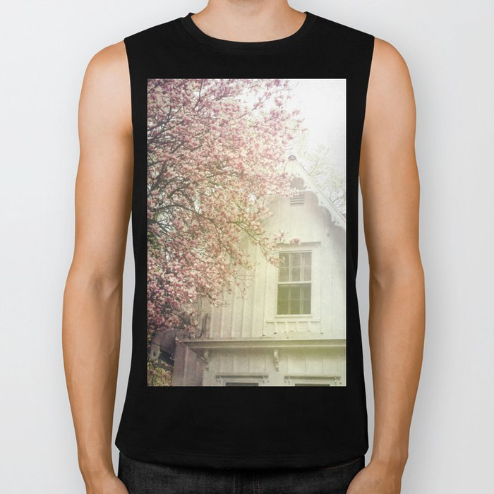 Cottage and Magnolias Biker Tank