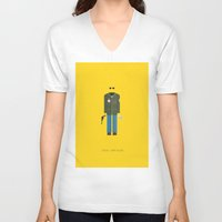 taxi driver V-neck T-shirts featuring Taxi Driver | Famous Costumes by Fred Birchal
