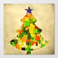 christmas tree Canvas Prints featuring Christmas tree by SensualPatterns
