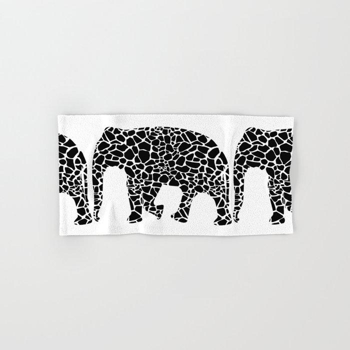 Elephant with giraffe print Hand & Bath Towel