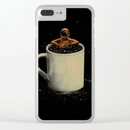 Space Coffee Clear iPhone Case
