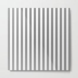 STRIPED DESIGN (GREY-WHITE) Metal Print