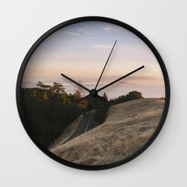 Mt. Tamalpais Sunset Wall Clock