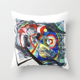 A Delaunay crumpled. Throw Pillow